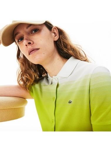 Lacoste Kadın Polo Yaka Elbise EF5781.W8G Sarı